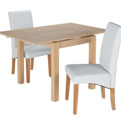 2 Seater Table And Chairs B M Suv With Captain Space Saving Dining Sets Compact Argos Home Clifton Oak Extendable