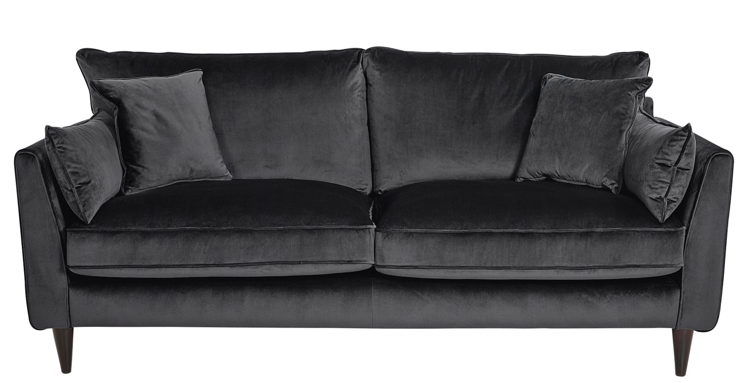 leather vs fabric sofa india sleeping bag bed sofas argos home hector 3 seater velvet grey