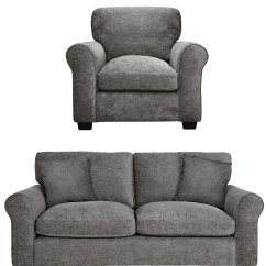 Black 3 Seater Sofa And Cuddle Chair Sleeper For Rv Sets Suites Packages Argos Home Tammy Fabric Charcoal