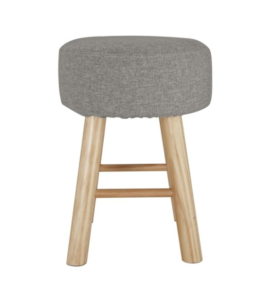 buy habitat small fabric footstool light grey footstools argos