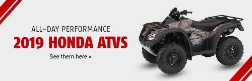 small resolution of 2019 honda atvs click here to view the models
