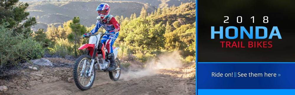 medium resolution of 2018 honda trail bikes click here to view our selection