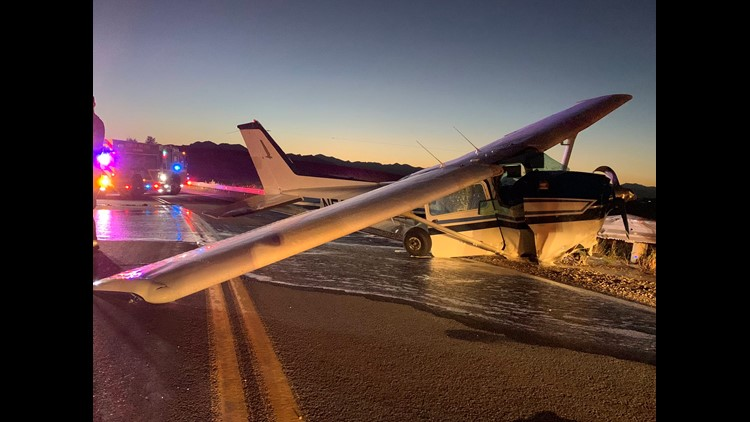 plane crashes onto roadway