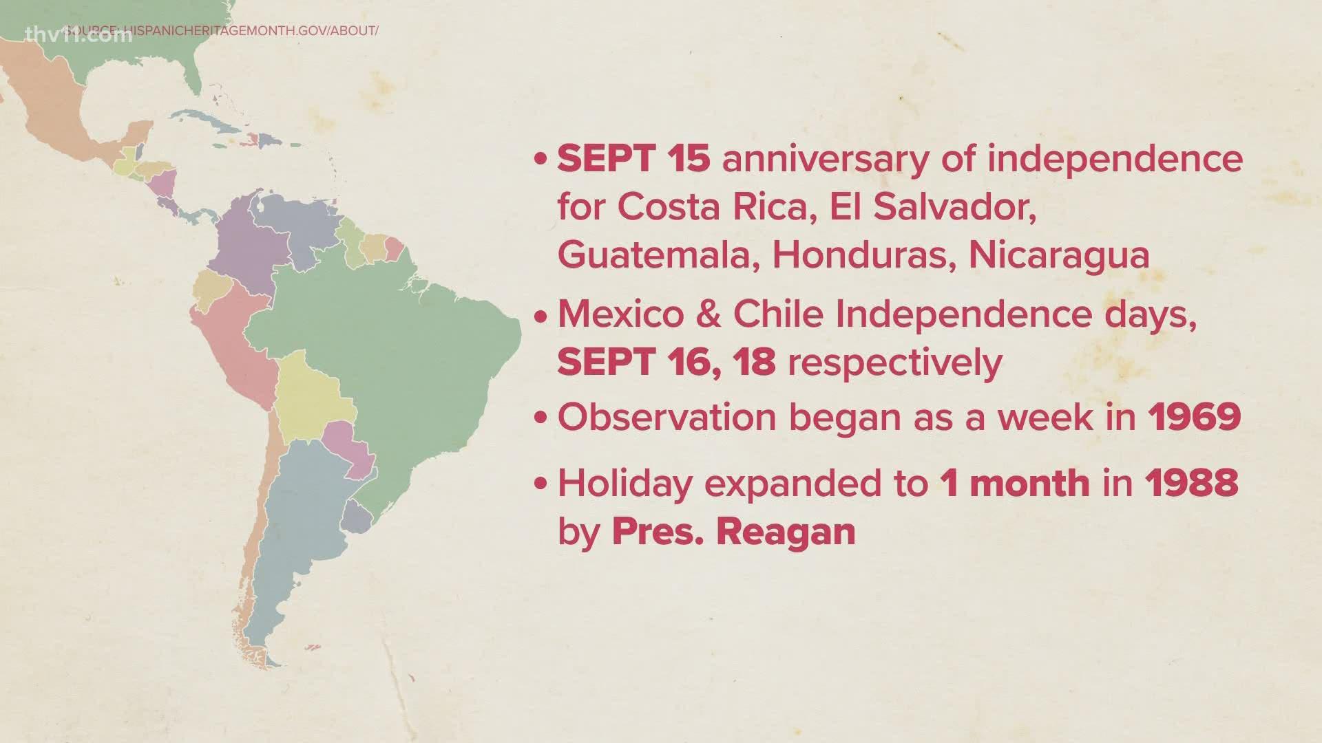 National Hispanic Heritage Month Kicks Off Sept 15