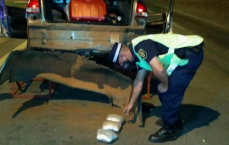 La Policía evitó el ingreso de cinco kilos de pasta base de cocaína a Entre Ríos