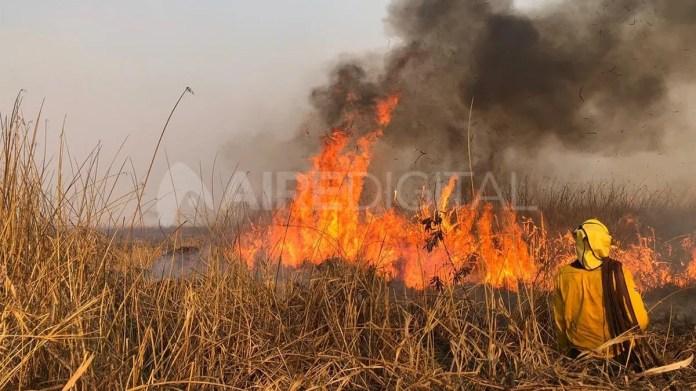 La quema de pastizales incontrolada se profundiza en el sur provincial.