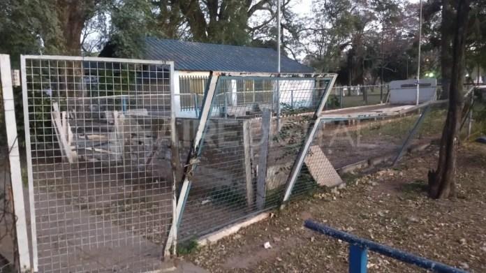 El club de bochas donde fue aprehendido el menor de edad en el Parque Garay