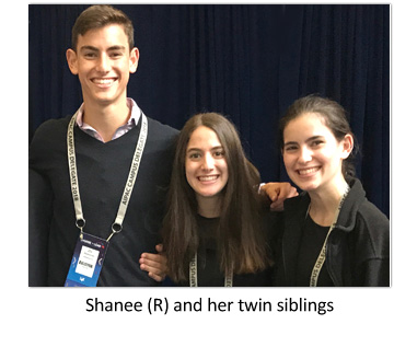 Shanee with twin siblings