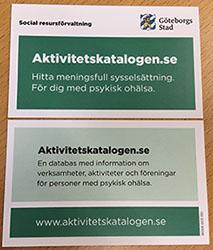 Kontaktkort (visitkort)