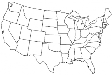 Election 2012: Lower 48 printable coloring sheet, help