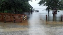 Hurricane Isaac Floods Daphne' Waterfront Parks