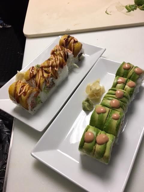 Sushi rolls at Miami Fusion Cafe