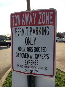 Parking Sign Enforcement