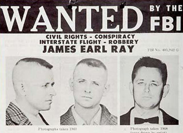 Image result for james earl ray arrested images