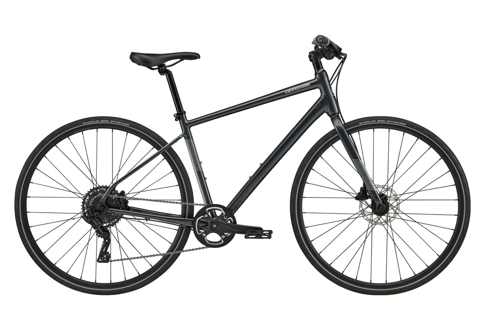 Cannondale Quick 4 Fitness Bike Microshift Advent 9s 700 Mm Graphite Grey 2020 Alltricks Com