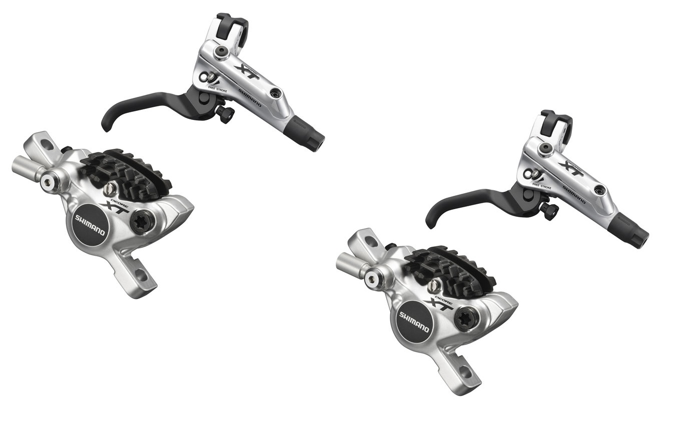 Shimano Xt M785 Pair Disc Brake Silver Radiator Without Rotor Pm