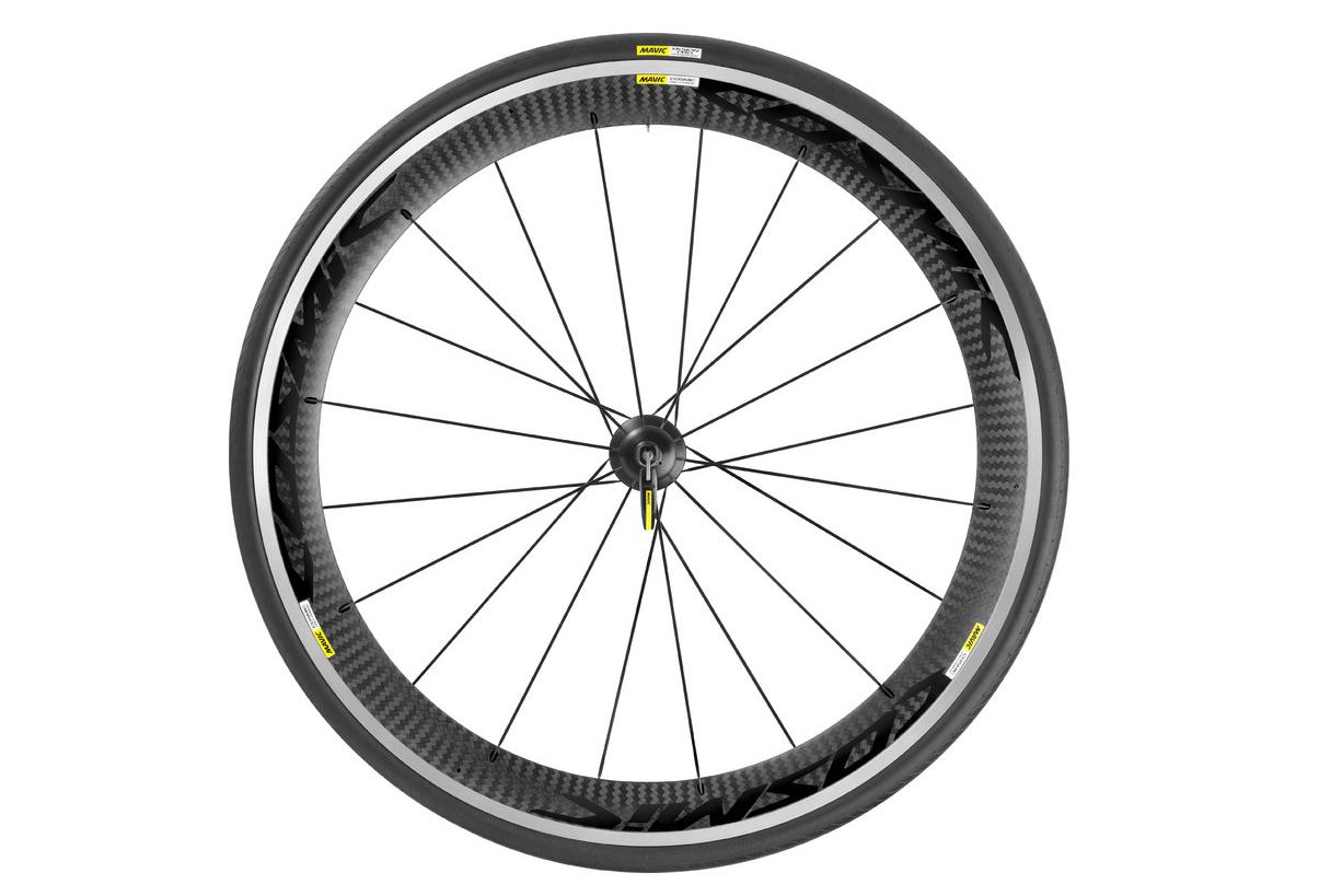 Rear Wheel Mavic Cosmic Pro Carbon Black Shimano Sram Tire Yksion Pro 23mm