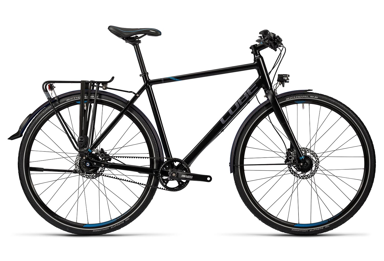 CUBE TRAVEL SL Touring Bike Shimano Alfine 8v Black Blue