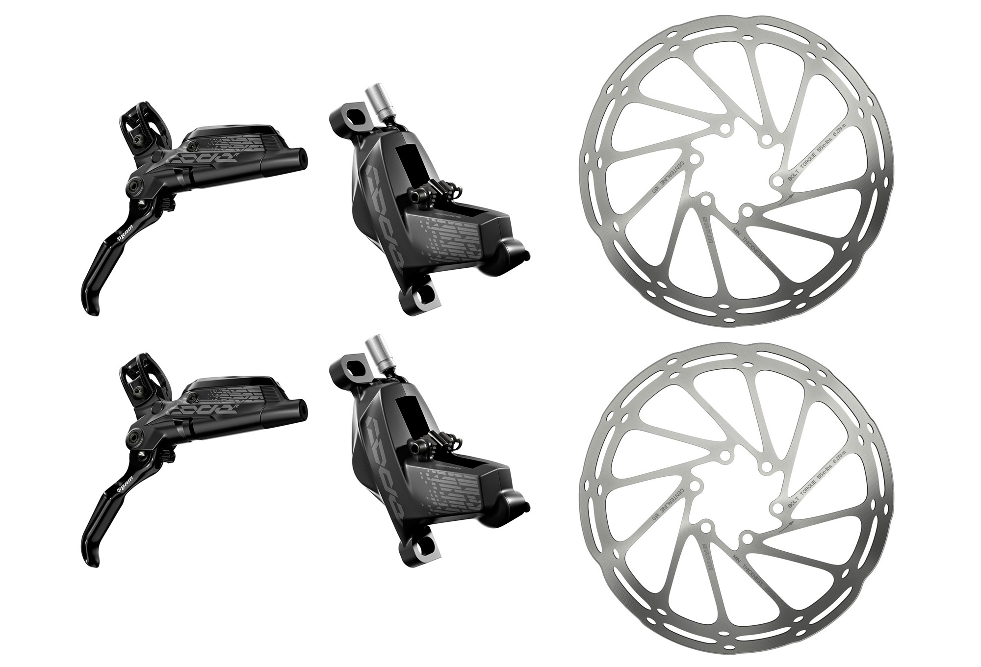 Brakeset SRAM CODE R Black with Disc Sram Centerline