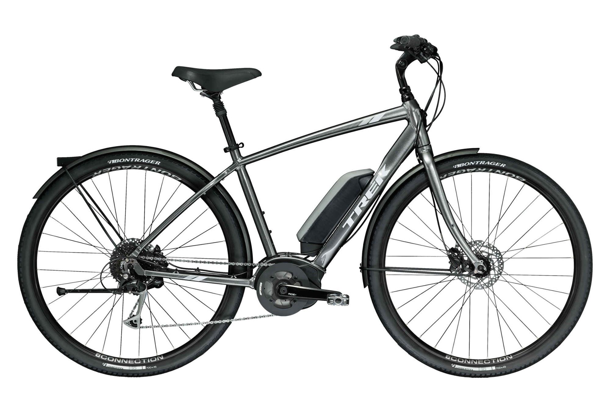Trek Verve+ Hybrid Urban Bike Shimano Alivio 9S Grey 2019
