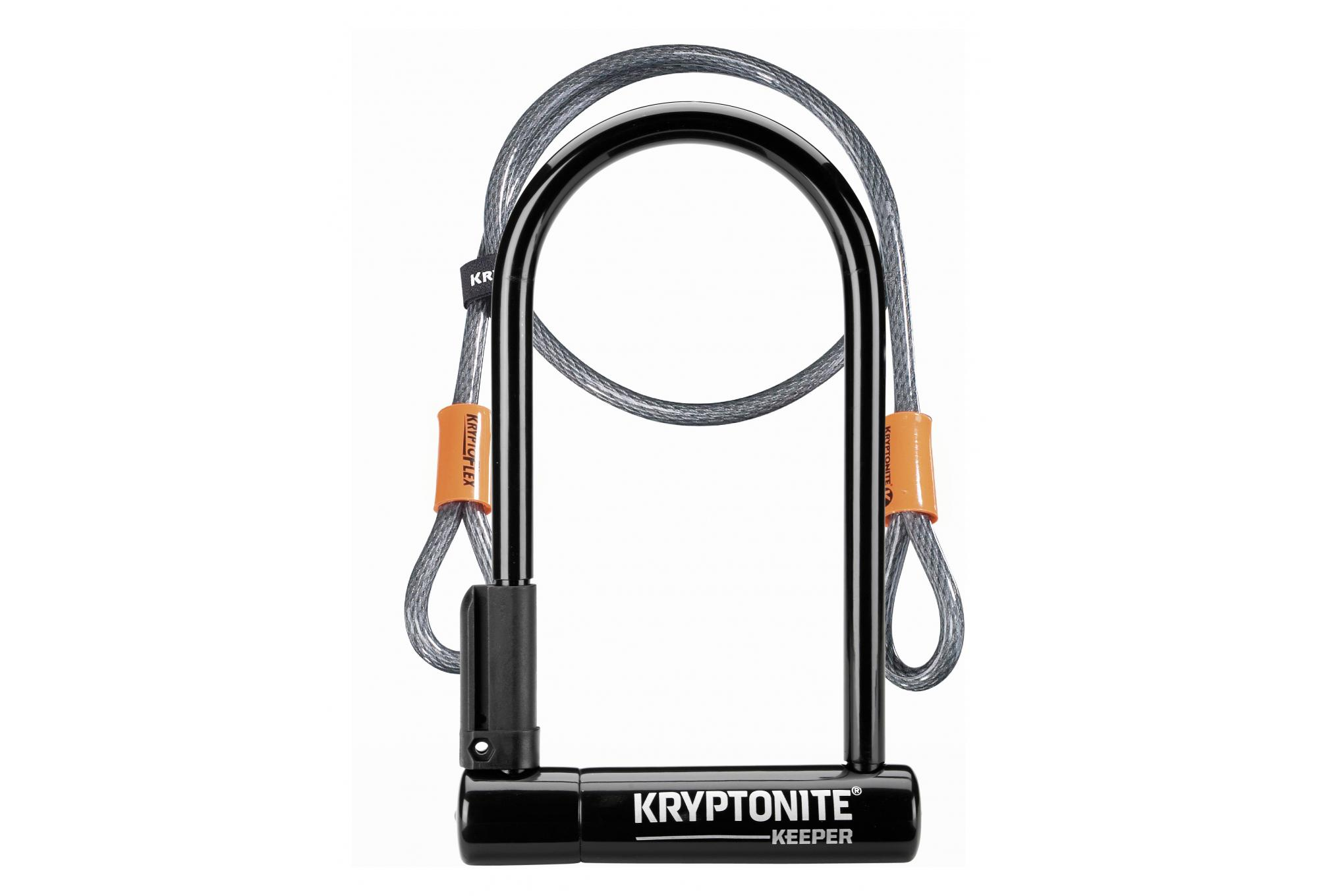 Kryptonite U Keeper Lock 12 Std With Flex Cable