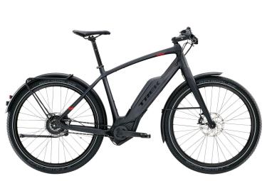 Trek Super Commuter + 9 Electric Touring Bike Black 2017