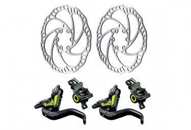 Pair of Disc Brake Magura MT8 SL Black/Yellow 2019 with