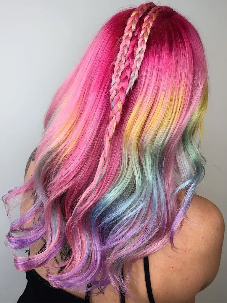 Lisa Frank Hair Is the Latest HairColor Trend to Take