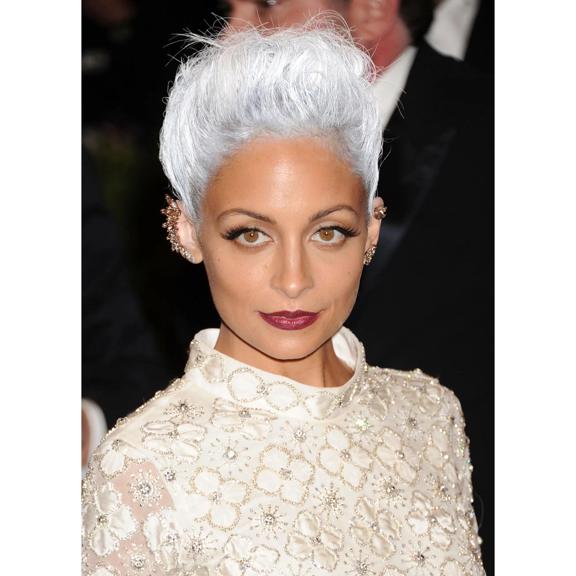 celebrity grey hair color