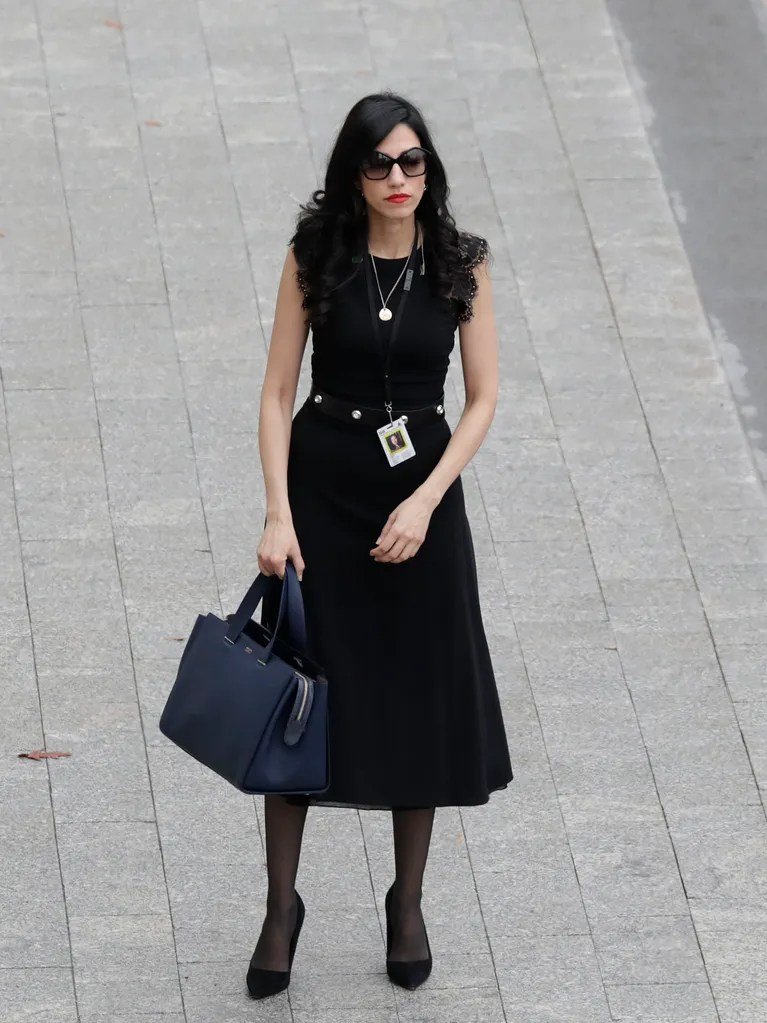 Huma Abedin Sent a Message With Her AllBlack Outfit for