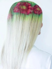 girl's hair dye design