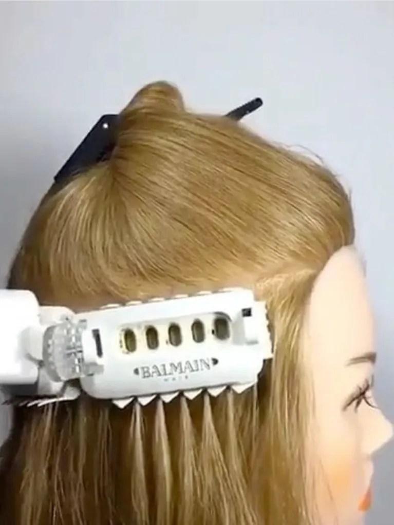Balmains Hair Extension Installation Is Mesmerizing Allure
