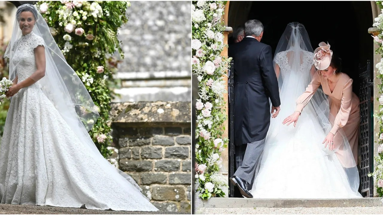 Pippa Middleton's Wedding Dress Was A Lace Cap-Sleeved