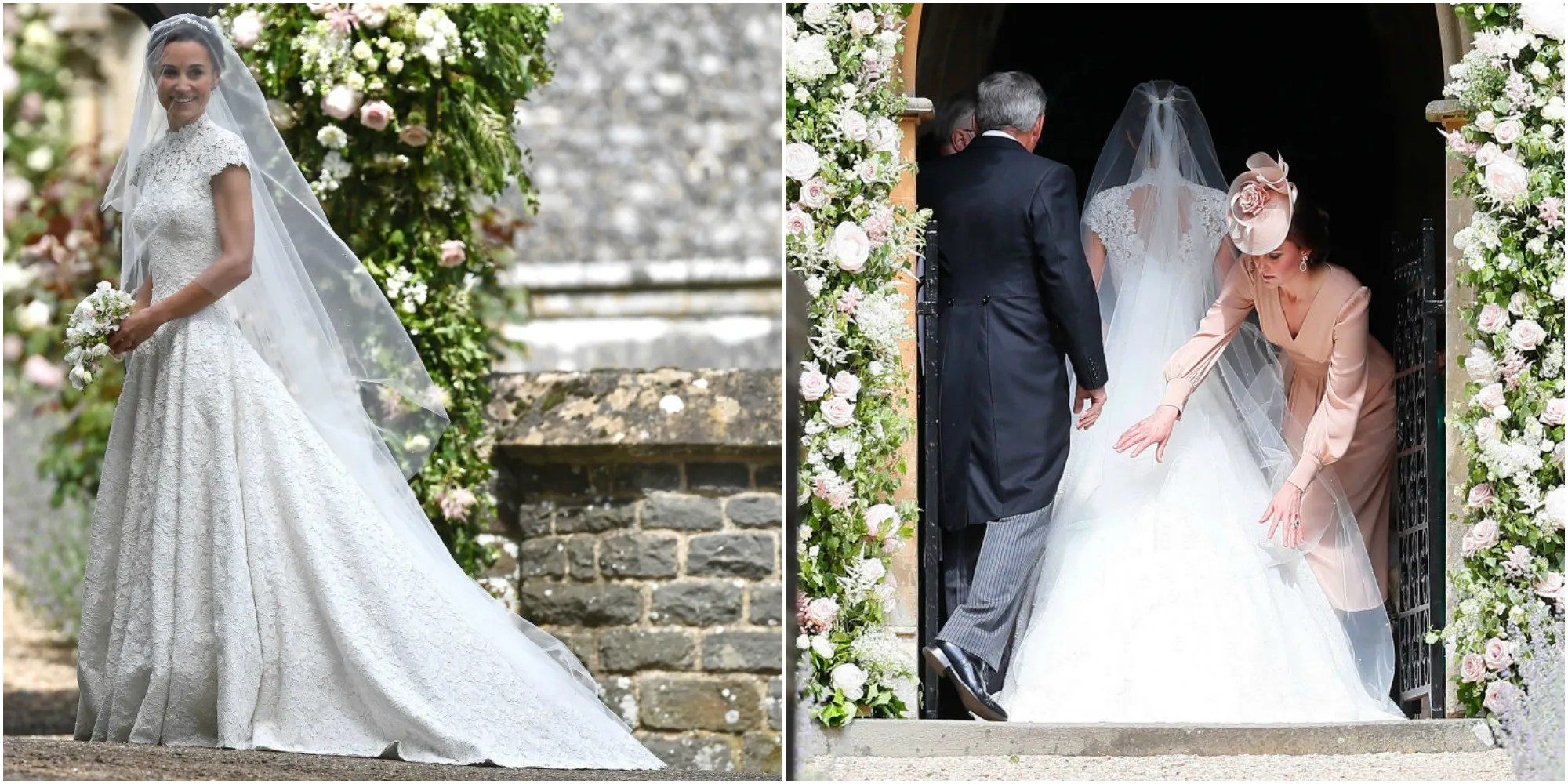 Pippa Middletons Wedding Dress Was A Lace Cap Sleeved
