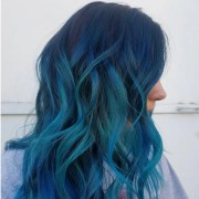 ocean-blue hair colors making