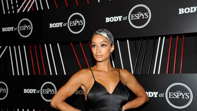 draya michele wears metallic bun hairstyle at the 2017 espy