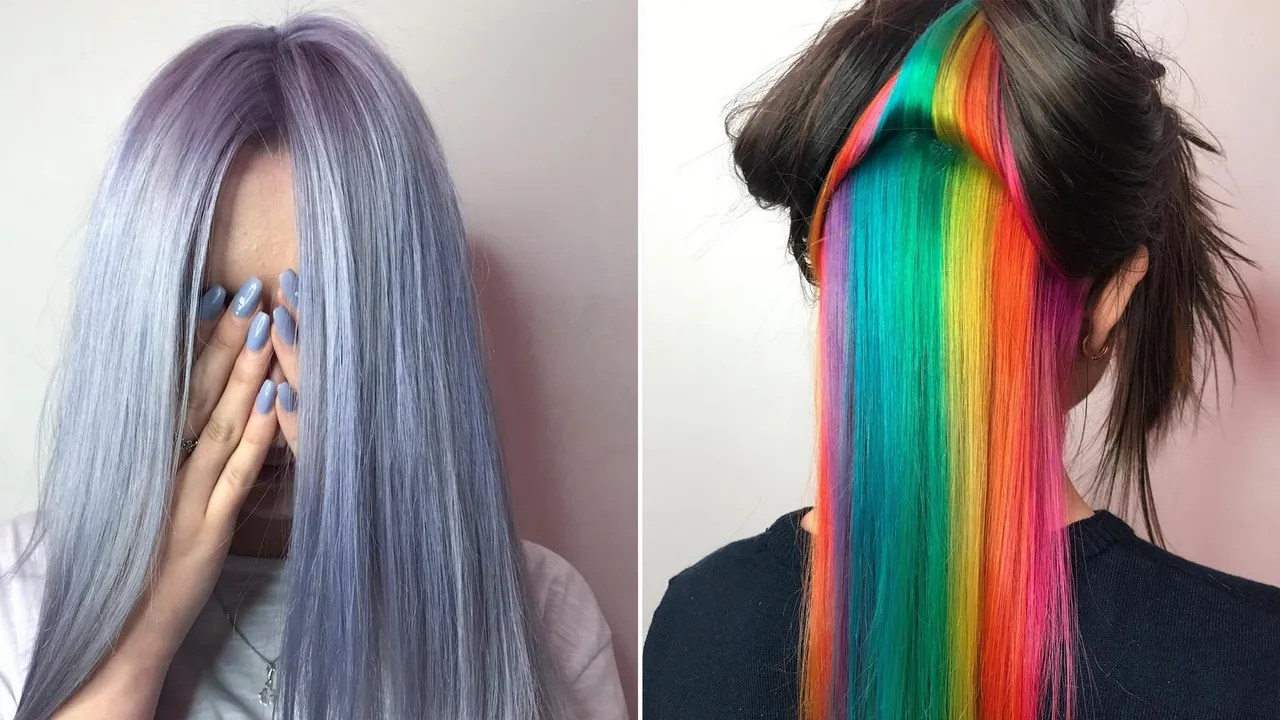 4 rainbow hair-color trends