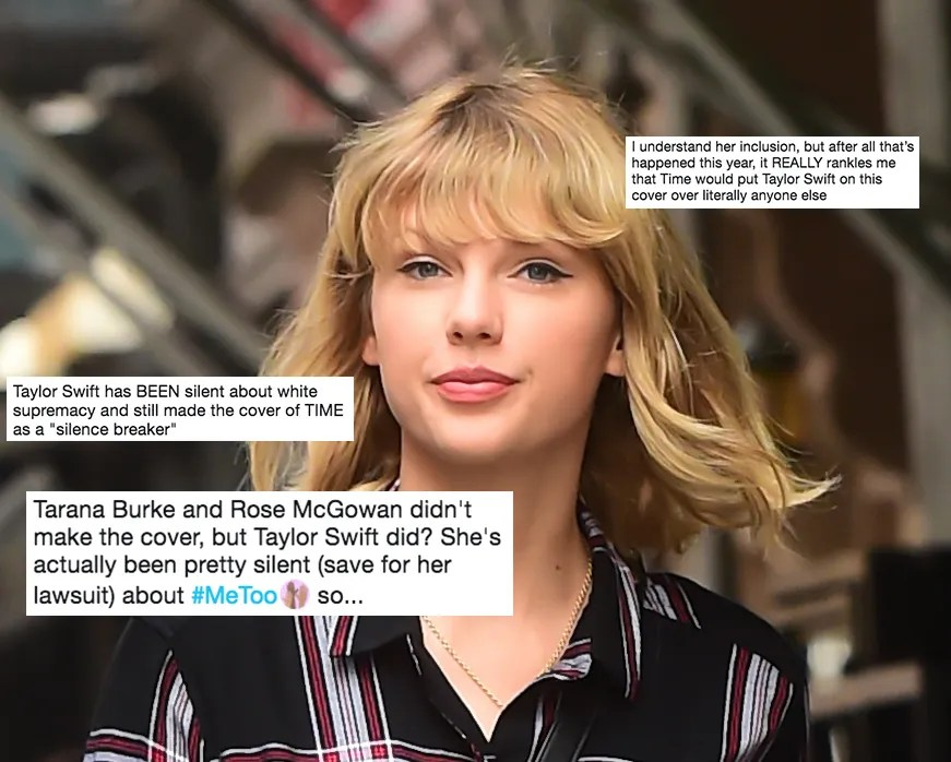 Internet Reacts to Times Choice of Taylor Swift for MeToo Cover  Allure