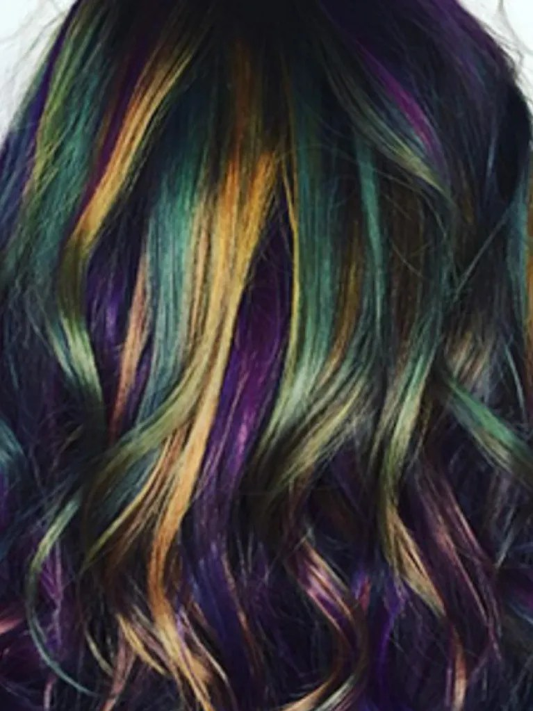 The Oil Slick Hair Trend Is Taking Over Instagram Allure