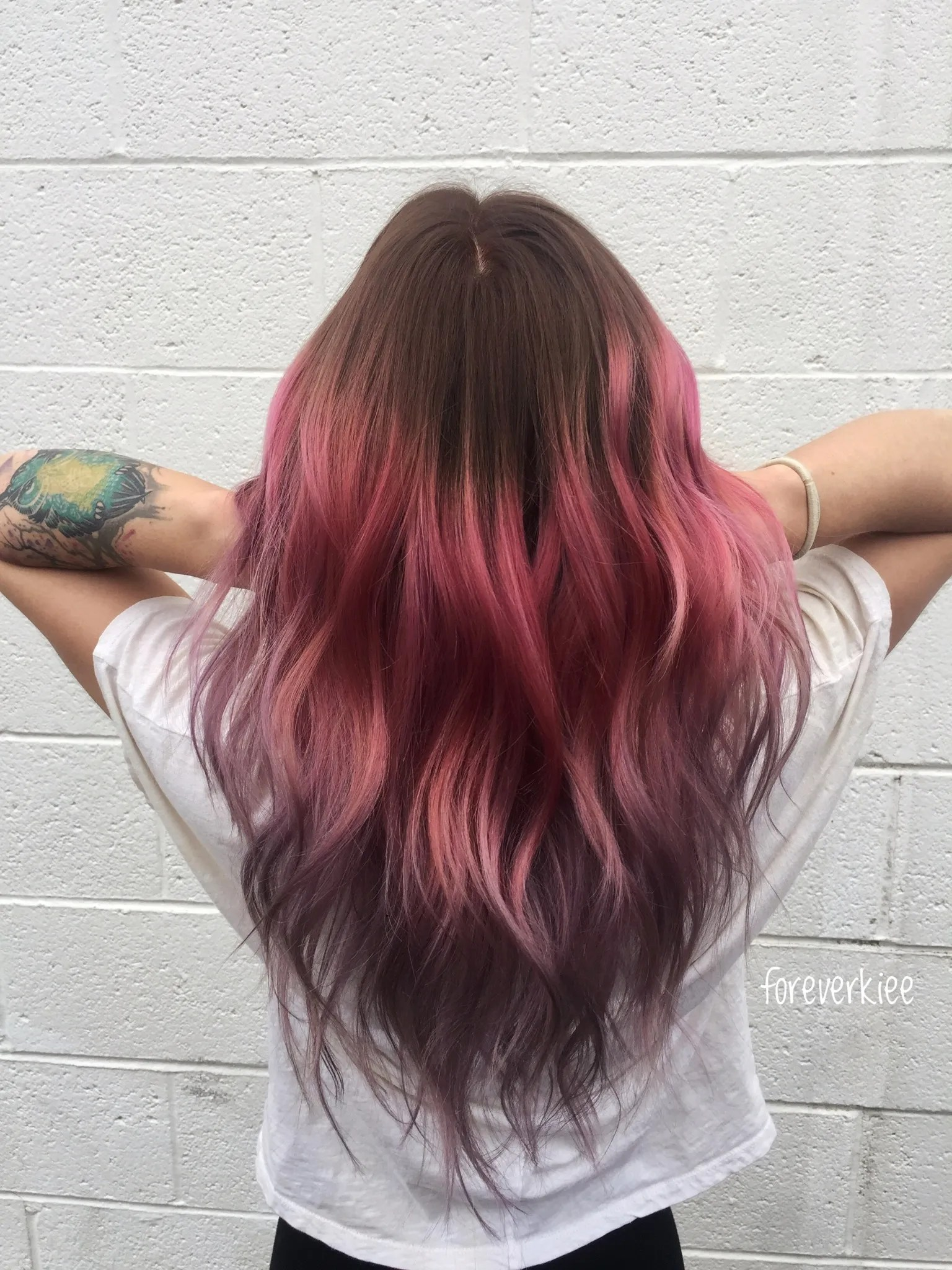 The Key To Perfect Pink Hair Color Don T Bleach The Roots
