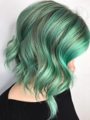 cool green hair color inspired