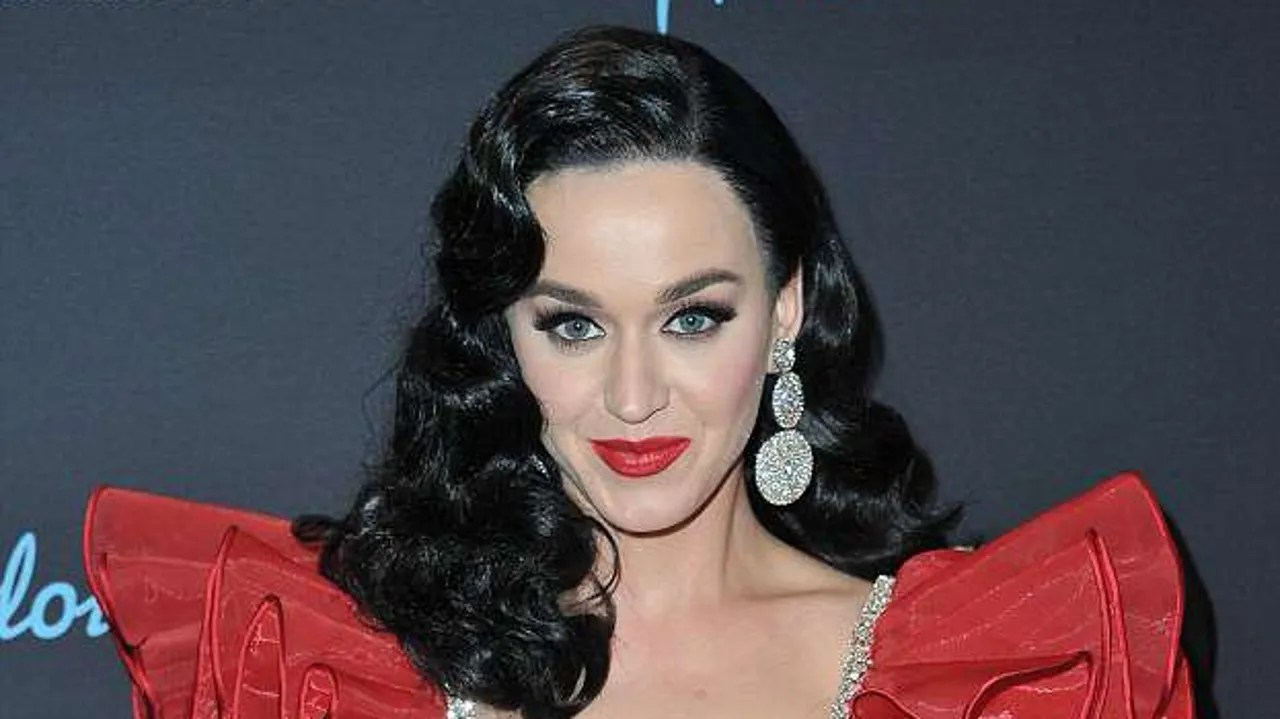katy perry rocks long black hair