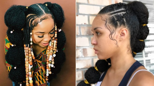 afro puff bubble ponytails are trending on instagram | allure