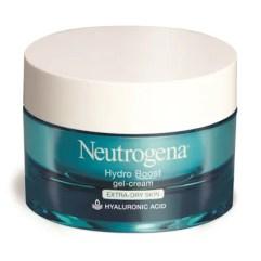 Best New Moisturizers of 2019 Blue jar of Neutrogena Hydro Boost Gel Cream on white background