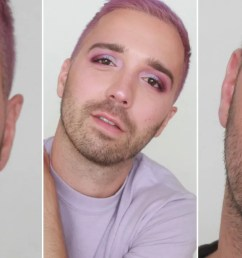a beautiful man wearing eye makeup [ 1280 x 720 Pixel ]