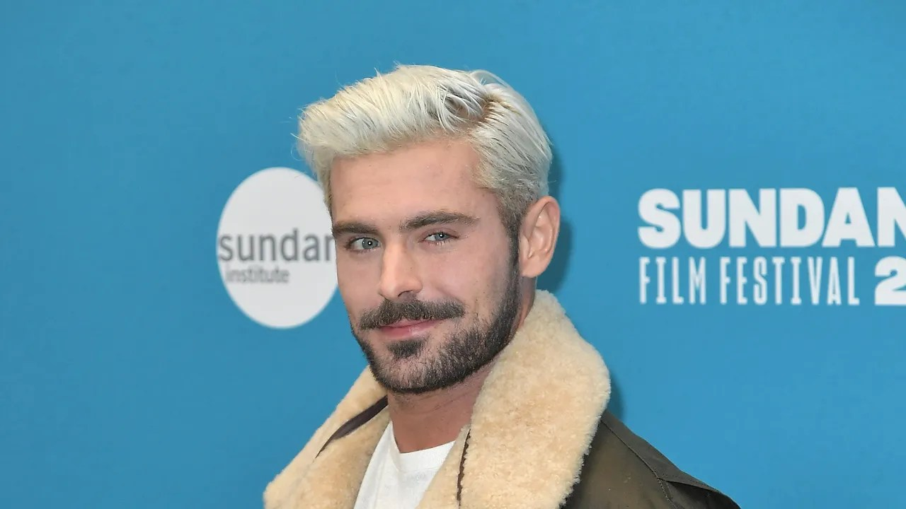 zac efron bleached his