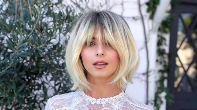 julianne hough shows off her new long, shaggy bangs | allure
