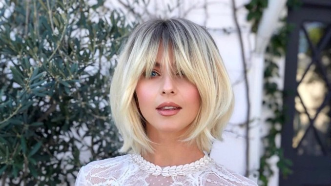 julianne hough shows off her new long, shaggy bangs   allure