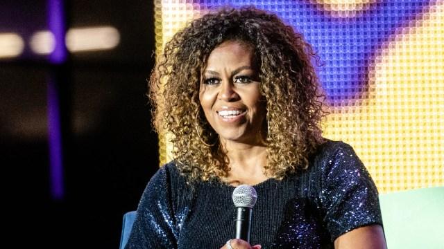 michelle obama gave her natural curls blonde ombré