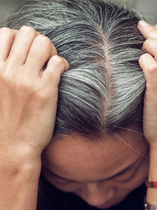 three easy (and low-maintenance) ways to cover gray hair